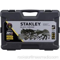 Stanley STMT75402W 201-Piece Black Chrome Universal Mechanic's Tool Set   565480494