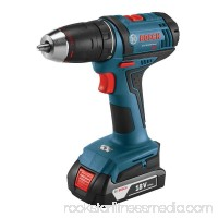 Bosch DDB181-02 18-Volt Lithium-Ion 1/2 in. Compact Cordless Driver Drill Kit with 2 Batteries   554875088