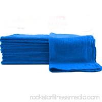 """GHP 50-Pcs 100% Cotton Pre-Shrunk 13""""x13"""" Blue Industrial Mechanics Shop Rag Towels"""