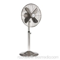 DecoBREEZE Pedestal Fan Adjustable Height 3-Speed Oscillating Fan, 16-Inch, Brushed Stainless Steel   566232856