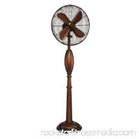 DecoBREEZE Pedestal Fan Adjustable Height 3-Speed Oscillating Fan, 16-Inch, Fir Bark   566232838