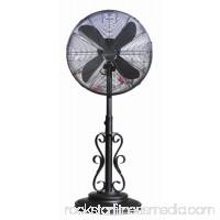 DecoBREEZE Pedestal Fan Outdoor, Oscillating Standing Adjustable Patio Fan, 18 Inch, Prestigious   566232843