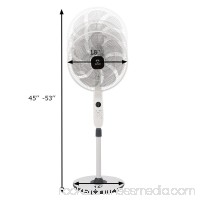 Fantask 15'' Pedestal Fan Stand 7 Blades 12 Speed 3 Mode Height Adjustable Remote Control