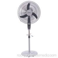 "GHP Grey 3-Speed 70W 18"" Manual Control Oscillating Floor Standing Pedestal Fan"