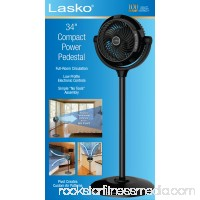 "Lasko 34"" Compact Power Pedestal Fan, Black   553301643"