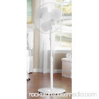 "Mainstays 16"" White 3-Speed Oscillating Pedestal Fan FS40-8MW   556653004"