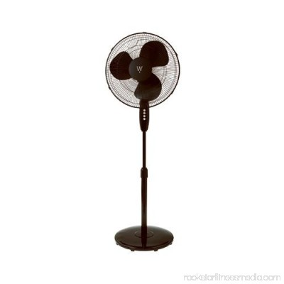 Midea International Trading FS40-8JCA-BLK Oscillating Stand Fan, Black, 16-In. - Quantity 1