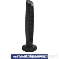 "Alera 36"" 3-Speed Oscillating Tower Fan with Remote Control, Plastic, Black   555715766"