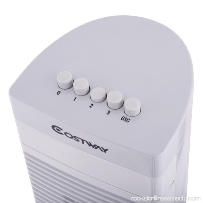Costway 30'' Tower Fan Portable Oscillating Cooling Bladeless 3 Speed