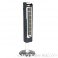 "Lasko 38"" Wind Tower Oscillating 3-Speed Fan, Model #2519, Black with Remote   001194766"
