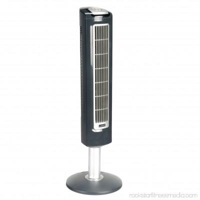 Lasko 38 Wind Tower Oscillating 3-Speed Fan, Model #2519, Black with Remote 001194766