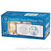 "Comfort Zone CZ309 9"" Portable Universal Twin Window Fan with Carrying Handle   553037526"
