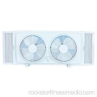 Cool Works F-5280A 7 2-Speed White Plastic Twin Window Fan 557501315