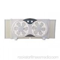 "TruePower Portable Twin 9"" Reversible Window Fan"