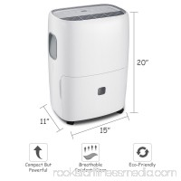 Goplus Portable 30 Pint Dehumidifier Humidity Control with Casters Washable Air Filter