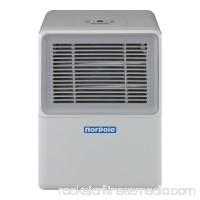 Norpole 50 Pint Portable Dehumidifier, White   566854248